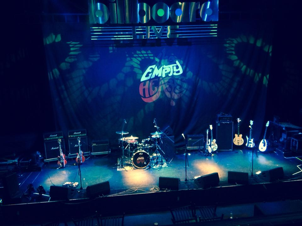 Stage is ready for The Empty Hearts Tokyo
